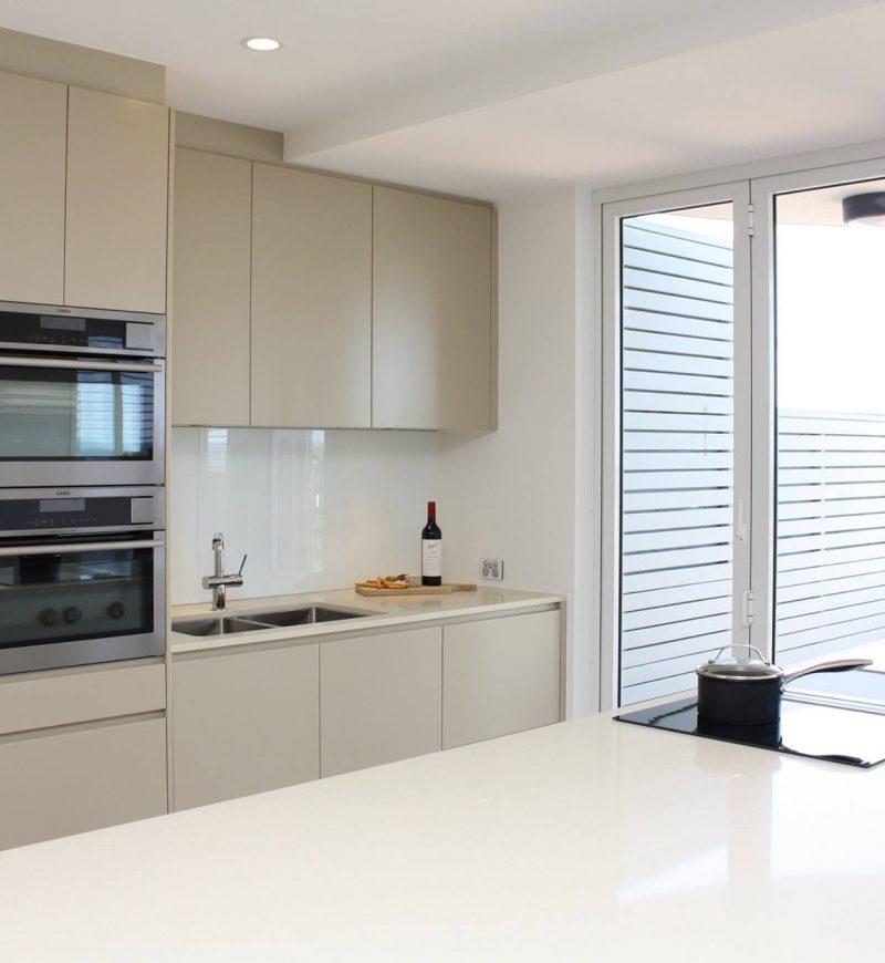 house renovations - minimal white kitchen