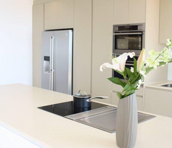 designer home builders sunshine coast minimal white kitchen