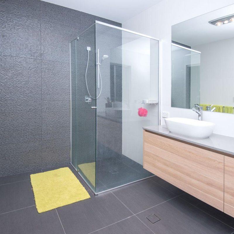 bathroom renovations sunshine coast - grey bathroom